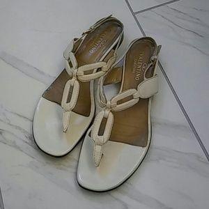 Valentino Garavani Leather Chain Link Sandals